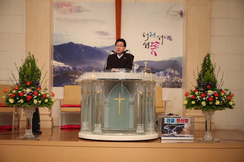 복된교회 / 강단 꽃꽂이